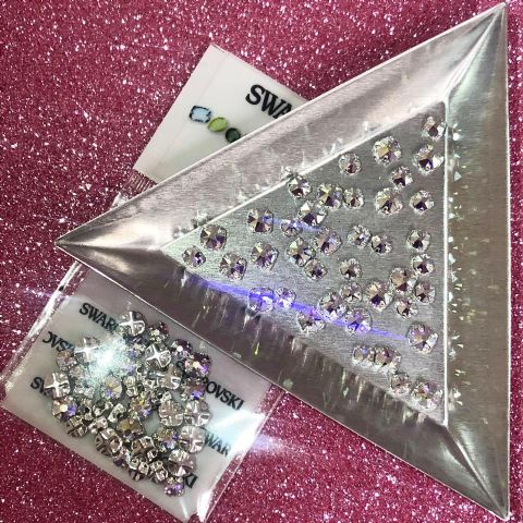 Mixed Pack of 40pc Swarovski Montees, Crystal AB